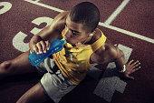 Sport. Runner. Top view