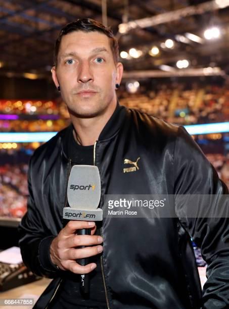 Sport1 handball expert Stefan Kretzschmar looks on before the Rewe Final Four final match between SG FlensburgHandewitt and Thw Kiel at Barclaycard...