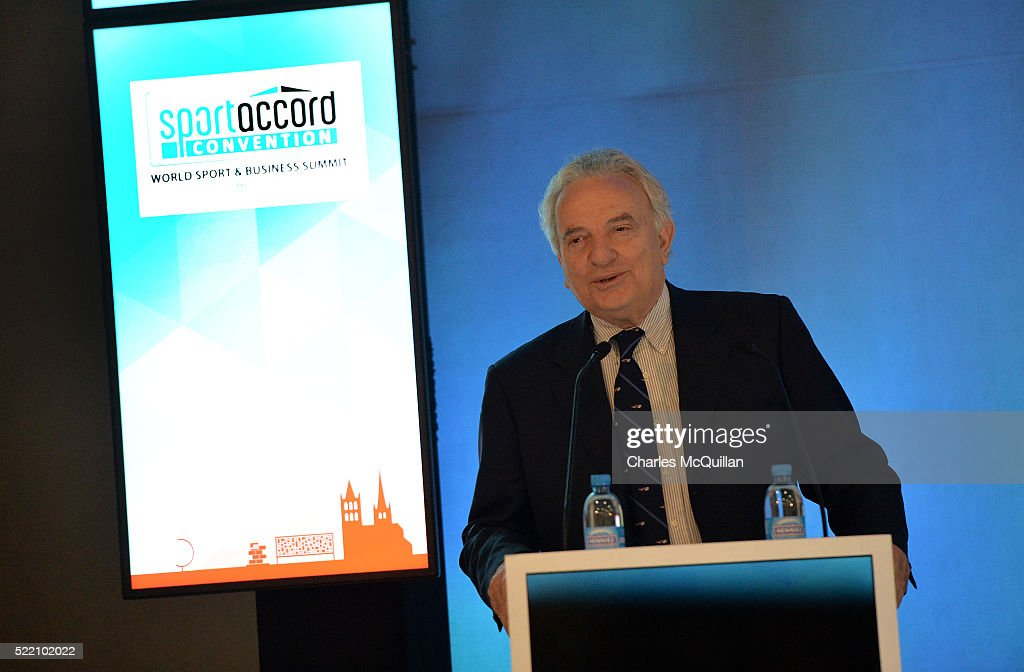 SportAccord Convention President <a gi-track='captionPersonalityLinkClicked' href=/galleries/search?phrase=Francesco+Ricci+Bitti&family=editorial&specificpeople=575852 ng-click='$event.stopPropagation()'>Francesco Ricci Bitti</a> addresses the LawAccord joint session with the Court of Arbitration during the second day of the SportAccord Convention at the SwissTech Convention Centre on April 18, 2016 in Lausanne, Switzerland.