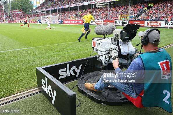 SportCast TV camera produced for sky tv during the Bundesliga match between Sport Club Freiburg and FC Bayern Muenchen at SchwarzwaldStadion on May...
