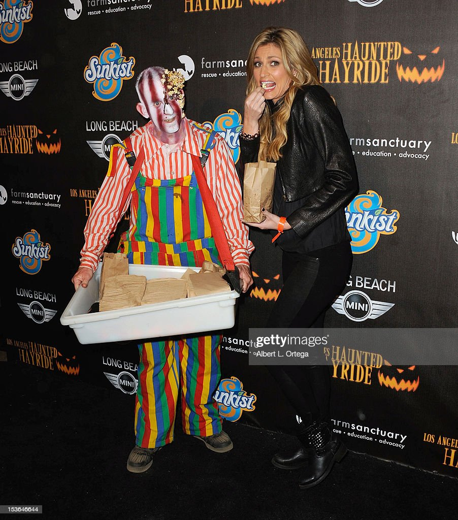 Sportcaster Erin Matthews arrives for the 4th Annual Los Angeles Haunted Hayride - 'The Congregation' - Arrivals held at Griffith Park on October 7, 2012 in Los Angeles, California.