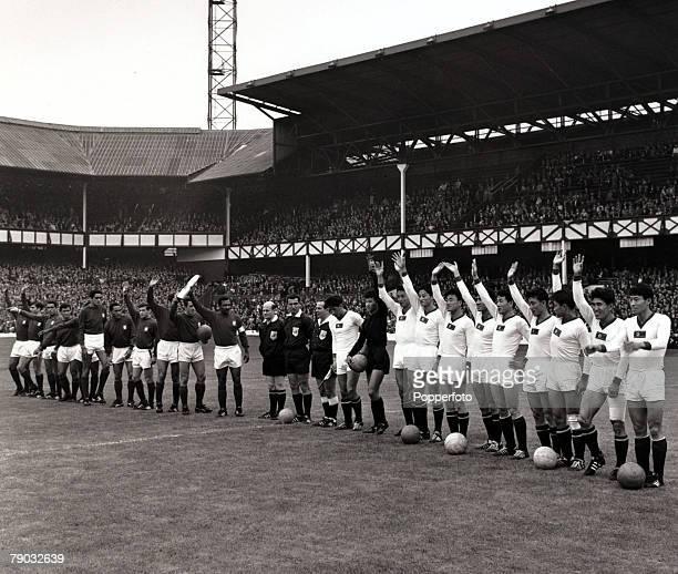 Sport/Football 1966 World Cup Finals Quarter Final Goodison Park England 23rd July 1966 Portugal 5 v North Korea 3 The Portugal team and North Korea...