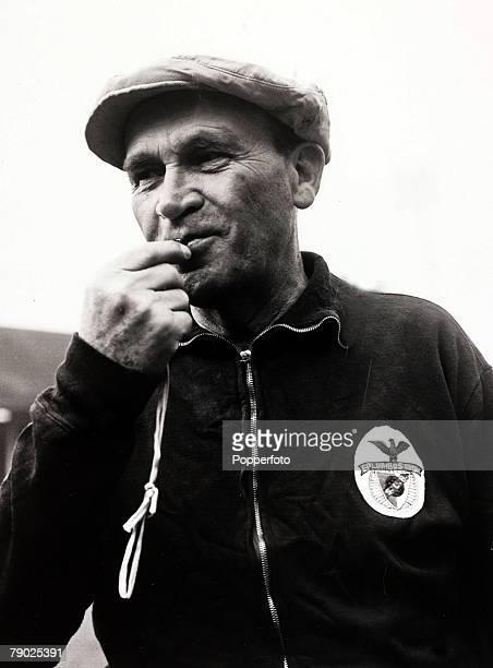 Sport/Football 3rd April 1962 Bela Gutman the Hungarian born Coach of Portuguese champions Benfica who are to play Tottenham Hotspur in the 2nd leg...