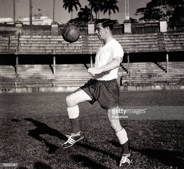 Sport/Football England in Brazil May 1959 England's Johnny Haynes training on his own as England prepare for their game of 13th May 1959 which they...