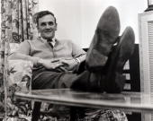 Sport/Football Leeds England 7th May 1964 Leeds United Manager Don Revie pictured relaxing at his Yorkshire home