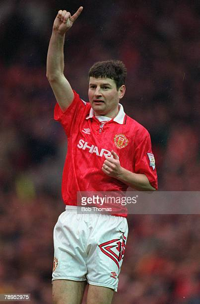 12th March 1994 Denis Irwin Manchester United defender who won 56 Republic of Ireland international caps 19912000