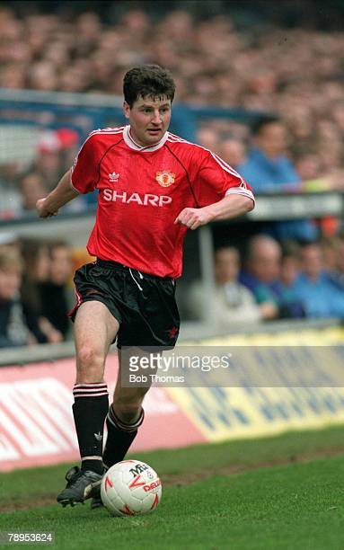 circa 1992 Denis Irwin Manchester United defender who won 56 Republic of Ireland caps 19912000