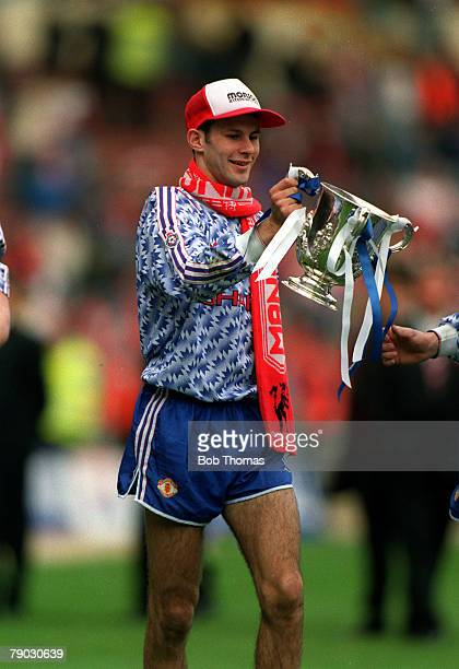 Sport/Football Rumbelows League Cup Final Wembley London England 12th April 1992 Manchester United 1 v Nottingham Forest 0 Manchester United's Ryan...