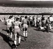 Sport/Football World Cup Qualifier 14th March 1954 Rio de Janeiro Brazil 1 v Chile 0 The Brazil team run out into the Maracana Stadium as...