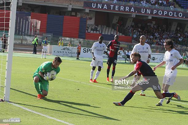 Sportiello Marco of Atalanta in action during the Serie A match between Cagliari Calcio and Atalanta BC at Stadio Sant'Elia on September 14 2014 in...