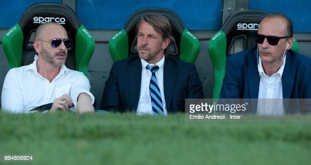 Sportif Director of FC Internazionale Milano Piero Ausilio FC Internazionale Milano coach Stefano Vecchi and Accademy Director of FC Internazionale...