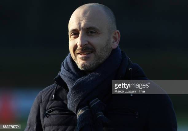 Sportif Director of FC Internazionale Milano Piero Ausilio look on during the FC Internazionale training session at the club's training ground Suning...