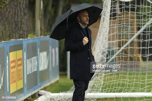 Sportif Director of FC Internazionale Milano Piero Ausilio looks on during the FC Internazionale training session at the club's training ground 'La...