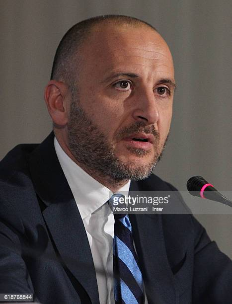 Sportif Director of FC Internazionale Milano Piero Ausilio looks on during FC Internazionale Shareholder's Meeting on October 28 2016 in Milan Italy