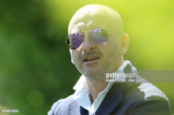 Sportif Director of FC Internazionale Milano Piero Ausilio looks on during the FC Internazionale training session at the club's training ground...