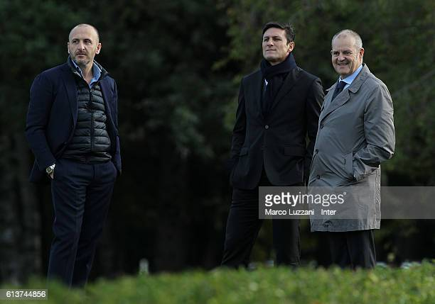 Sportif Director of FC Internazionale Milano Piero Ausilio Vice President of FC Internazionale Milano Javier Zanetti and Chief Football Administrator...