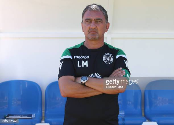 Sporting CP B head coach Luis Martins before the start of the Segunda Liga match between Real SC and Sporting CP B at Complexo Desportivo do Real SC...