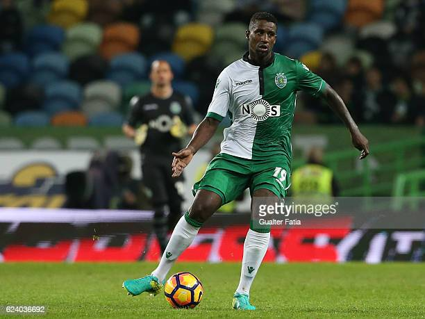 Sporting CP defender Douglas in action during the Portuguese Cup match between Sporting CP and SC Praiense at Estadio Jose Alvalade on November 17...