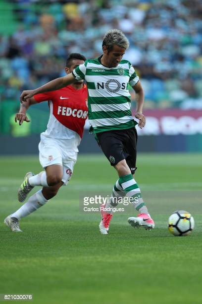 Sporting CP defender Fabio Coentrao from Portugal during the Friendly match between Sporting CP and AS Monaco at Estadio Jose Alvalade on July 22...