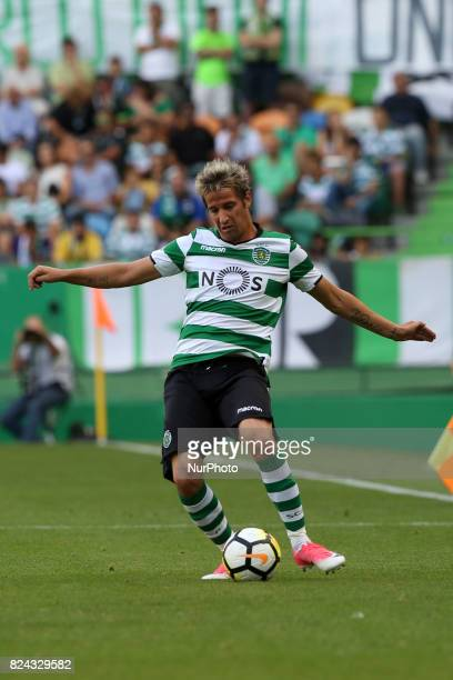 Sporting CP defender Fabio Coentrao from Portugal in action during the Trophy Five Violins 2017 final football match Sporting CP vs ACF Fiorentina at...