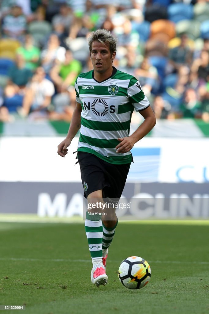 Sporting CP defender Fabio Coentrao from Portugal in action during the Trophy Five Violins 2017 final football match Sporting CP vs ACF Fiorentina at Alvadade stadium in Lisbon, Portugal on July 29, 2017.