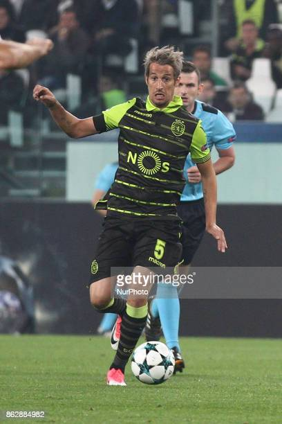 Sporting CP defender Fabio Coentrao in action during the Uefa Champions League group stage football match n3 JUVENTUS SPORTING on at the Allianz...