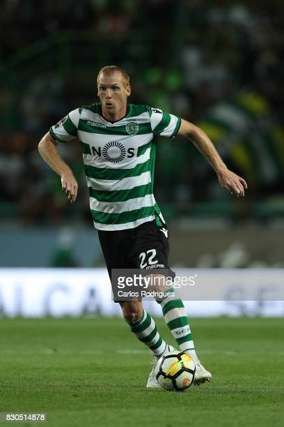 Sporting CP defender Jeremy Mathieu from France during the Portuguese Primeira Liga round two match between Sporting CP and Vitoria FC at Estadio...