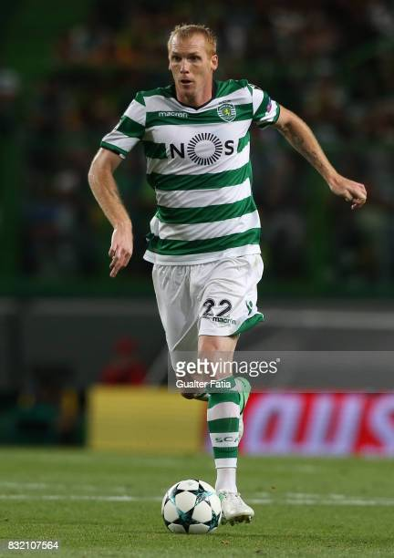 Sporting CP defender Jeremy Mathieu from France in action during the UEFA Champions League Qualifying PlayOffs Round First Leg match between Sporting...