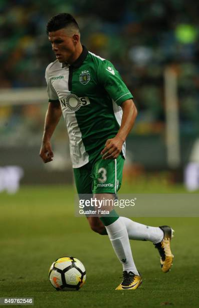 Sporting CP defender Jonathan Silva from Argentina in action during the Portuguese League Cup match between Sporting CP and CS Maritimo at Estadio...