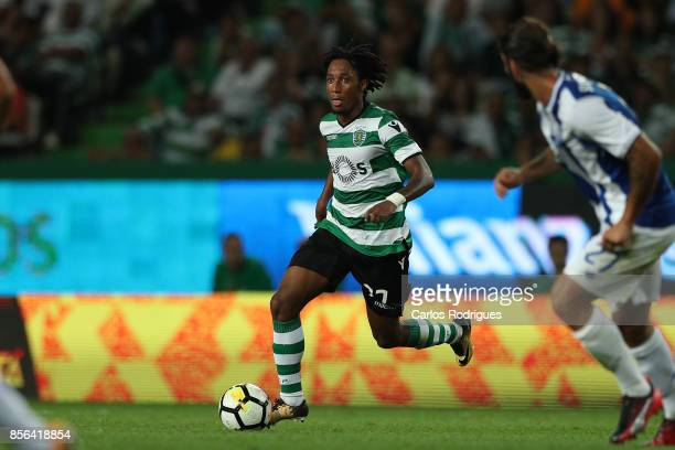 Sporting CP forward Gelson Martins from Portugal during the Portuguese Primeira Liga round two match between Sporting CP and FC Porto at Estadio Jose...