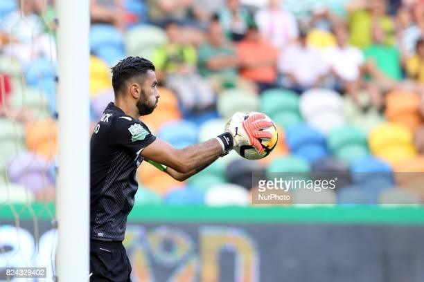 Sporting CP goalkeeper Rui Patricio from Portugal in action during the Trophy Five Violins 2017 final football match Sporting CP vs ACF Fiorentina at...