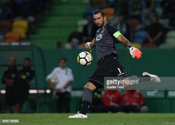 Sporting CP goalkeeper Rui Patricio from Portugal in action during the Primeira Liga match between Sporting CP and CD Tondela at Estadio Jose...