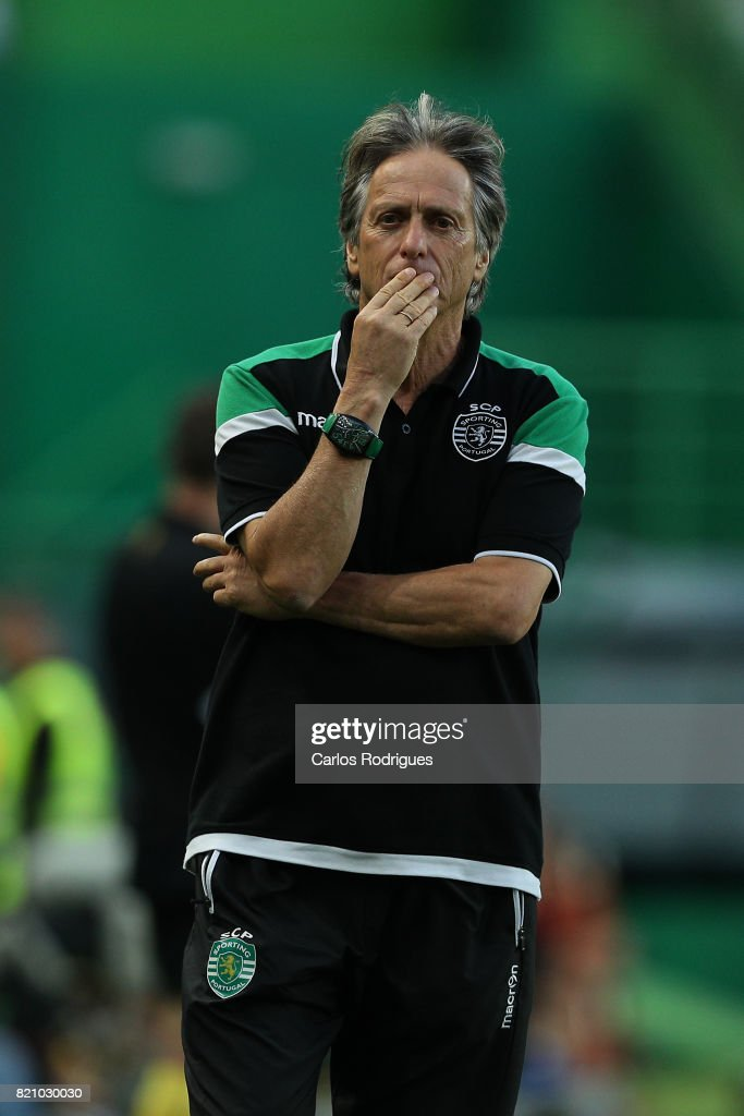 Sporting CP head coach Jorge Jesus from Portugal during the Friendly match between Sporting CP and AS Monaco at Estadio Jose Alvalade on July 22, 2017 in Lisbon, Portugal.