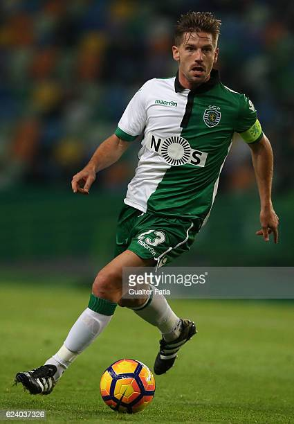 Sporting CP midfielder Adrien Silva in action during the Portuguese Cup match between Sporting CP and SC Praiense at Estadio Jose Alvalade on...