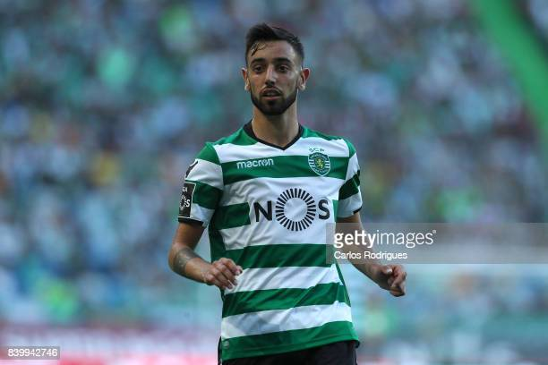 Sporting CP midfielder Bruno Fernandes from Portugal during the Portuguese Primeira Liga round four match between Sporting CP and Estoril Praia at...