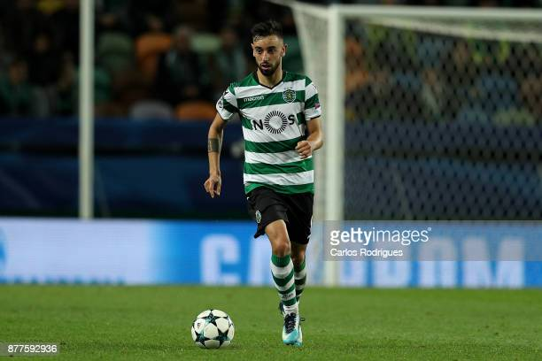 Sporting CP midfielder Bruno Fernandes from Portugal during the UEFA Champions League match between Sporting CP and Olympiakos Piraeus at Estadio...