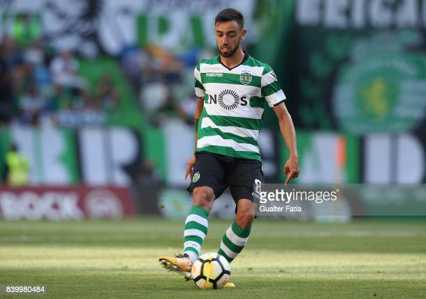 Sporting CP midfielder Bruno Fernandes from Portugal in action during the Primeira Liga match between Sporting CP and GD Estoril Praia at Estadio...