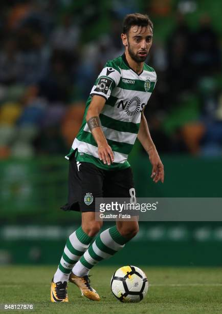 Sporting CP midfielder Bruno Fernandes from Portugal in action during the Primeira Liga match between Sporting CP and CD Tondela at Estadio Jose...