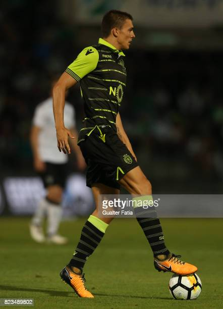 Sporting CP midfielder Joao Palhinha from Portugal in action during PreSeason Friendly match between Sporting CP and Vitoria Guimaraes at Estadio...