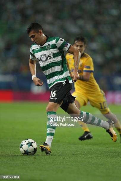 Sporting CP midfielder Rodrigo Battaglia from Argentina during the UEFA Champions League group D match between Sporting CP and Juventus FC at Estadio...