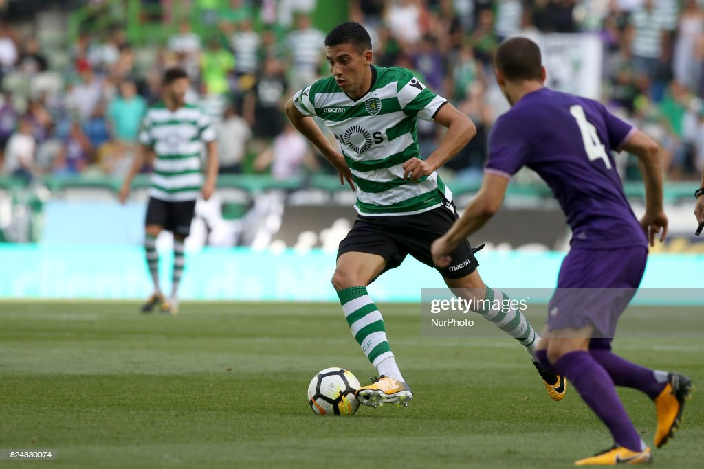 Sporting CP midfielder Rodrigo Battaglia from Argentina in action during the Trophy Five Violins 2017 final football match Sporting CP vs ACF Fiorentina at Alvadade stadium in Lisbon, Portugal on July 29, 2017.
