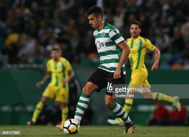 Sporting CP midfielder Rodrigo Battaglia from Argentina in action during the Primeira Liga match between Sporting CP and CD Tondela at Estadio Jose...