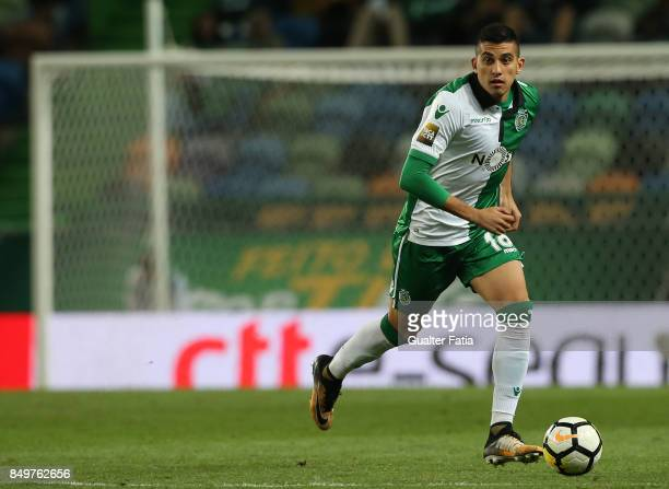 Sporting CP midfielder Rodrigo Battaglia from Argentina in action during the Portuguese League Cup match between Sporting CP and CS Maritimo at...