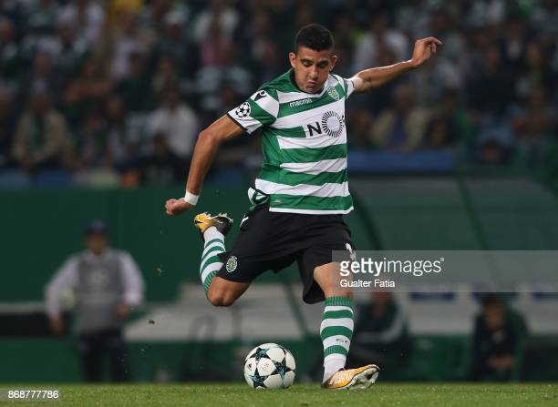 Sporting CP midfielder Rodrigo Battaglia from Argentina in action during the UEFA Champions League match between Sporting Clube de Portugal and...