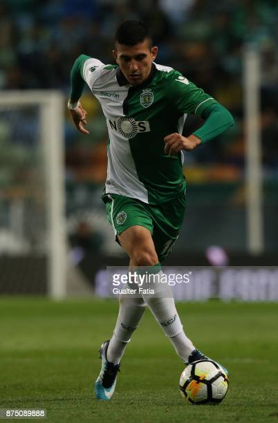 Sporting CP midfielder Rodrigo Battaglia from Argentina in action during the Portuguese Cup match between Sporting CP and FC Famalicao at Estadio...