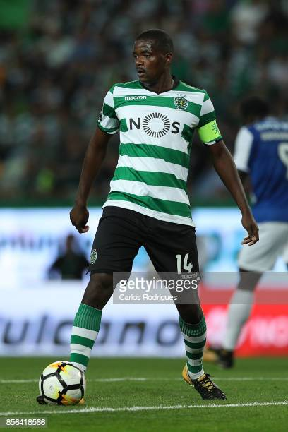 Sporting CP midfielder William Carvalho from Portugal during the Portuguese Primeira Liga round two match between Sporting CP and FC Porto at Estadio...