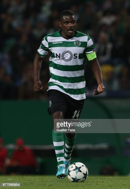 Sporting CP midfielder William Carvalho from Portugal in action during the UEFA Champions League match between Sporting Clube de Portugal and...