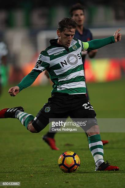 Sporting CPO's midfielder Adrien Silva from Portugal during the Portuguese Primeira Liga between CFO's Belenenses v Sporting CP Primeira Liga at...