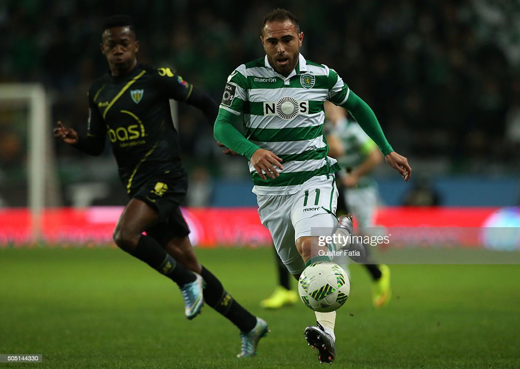 Sporting CPÕs brazilian midfielder Bruno Cesar in action during the Primeira Liga match between Sporting CP and CD Tondela at Estadio Jose Alvalade on January 15, 2016 in Lisbon, Portugal.