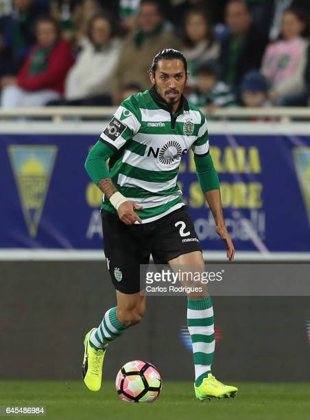 Sporting CP's defender Ezequiel Schelotto from Argentina during the match between Estoril Praia SAD and Sporting CP for the Portuguese Primeira Liga...